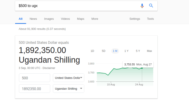 currency converter google search