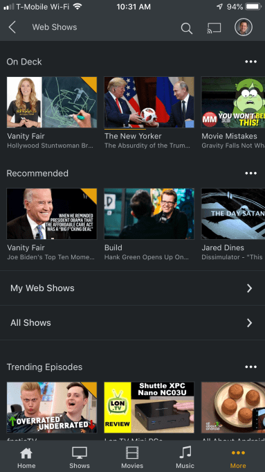 Plex Web Shows