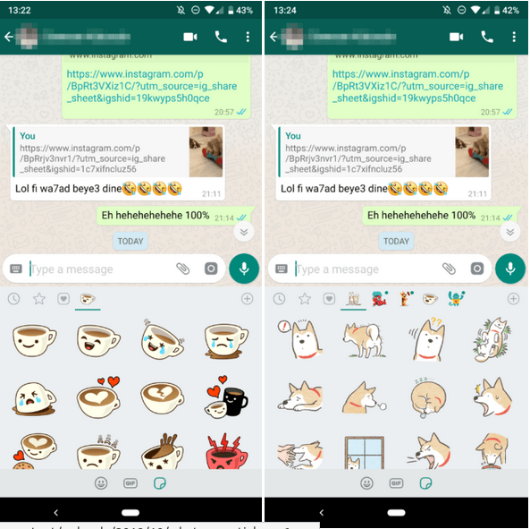 Get Stickers on WhatsApp Now : Download WhatsApp beta v2.18.329