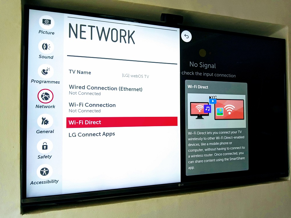 Connect phone to tv cast lg webos