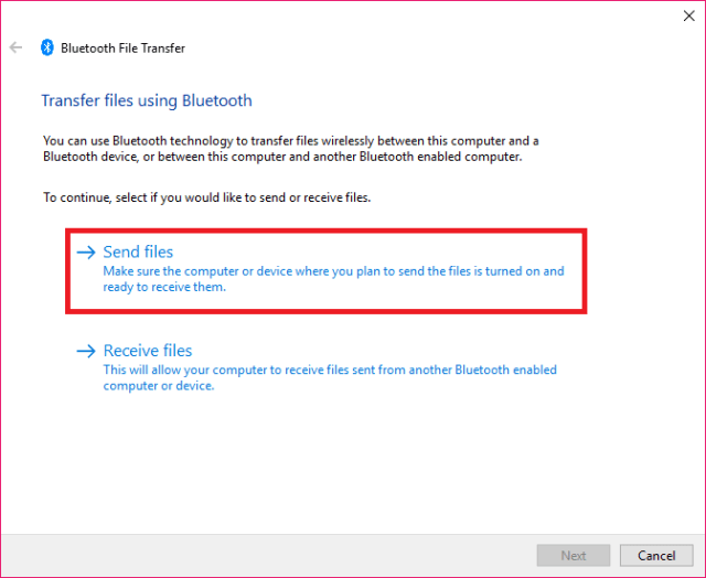 Share files via Bluetooth3