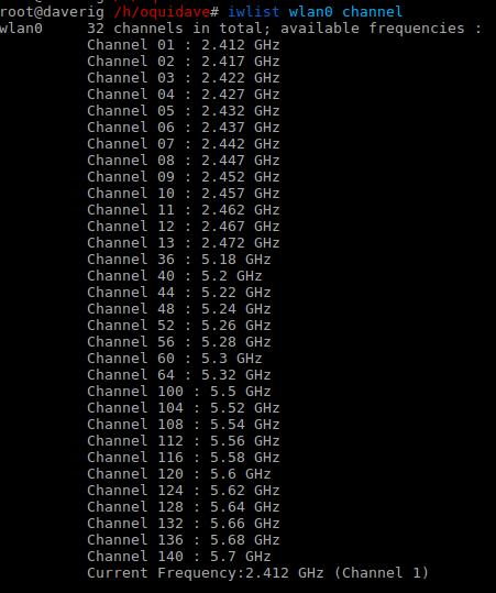 wifi channels linux