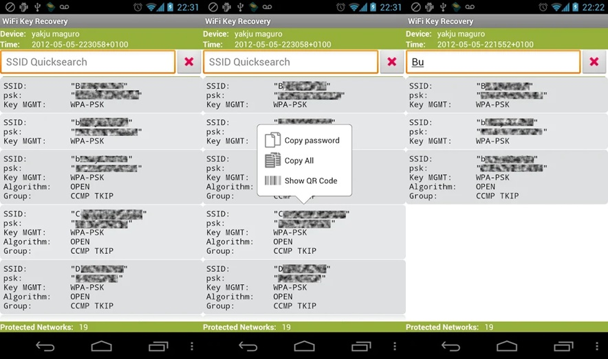 How to check password of WiFi networks on your (Android
