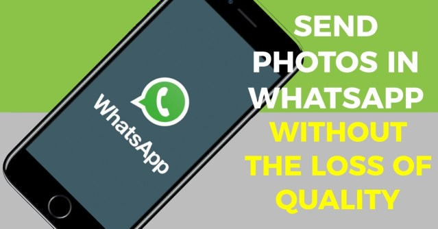 How to send original photos on WhatsApp without compression