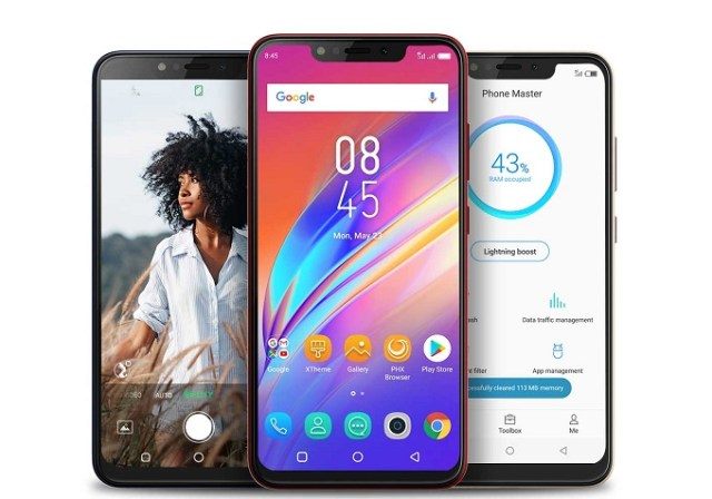 Infinix smartphone with big batteries
