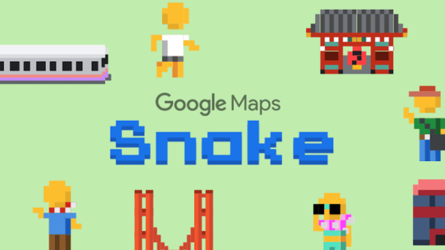 Google maps snake game