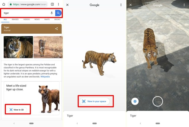 google ar image search