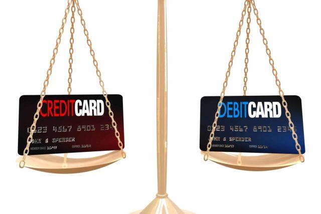 debit vs credit card