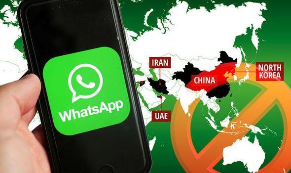 WhatsApp Blocked countries