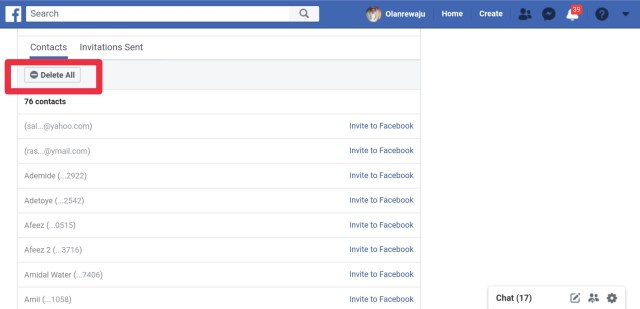 how to delete your phone contacts uploaded on Facebook
