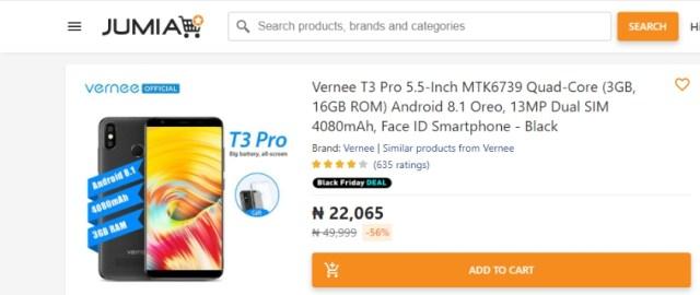 Jumia Nigeria Black Friday Smartphone Deal