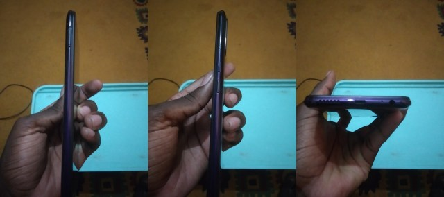 Sides of Infinix Hot 8