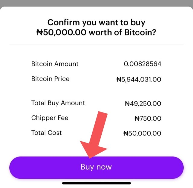 buy and sell Bitcoin on Chipper Cash