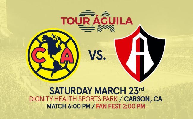 Tour águila Club America Vs Atlas Dignity Health