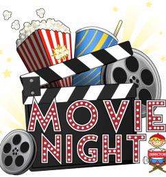 free movie night clipart 01  [ 1024 x 927 Pixel ]