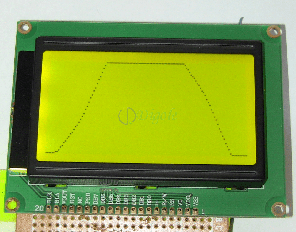 hight resolution of accessories serial paralle 128x64 lcd display black yellowgreen