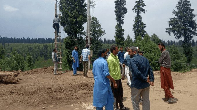 Villagers ecstatic as remote village electrified in J&K's Shopian