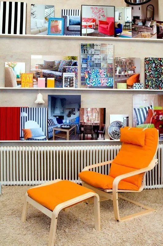 ikea orange chair covers upholstering seat corners 6 poang uses and 22 awesome hacks digsdigs bold cover