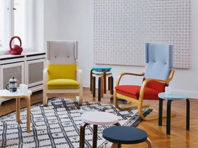 poang chairs indoor chair plans 6 ikea uses and 22 awesome hacks digsdigs color blocked