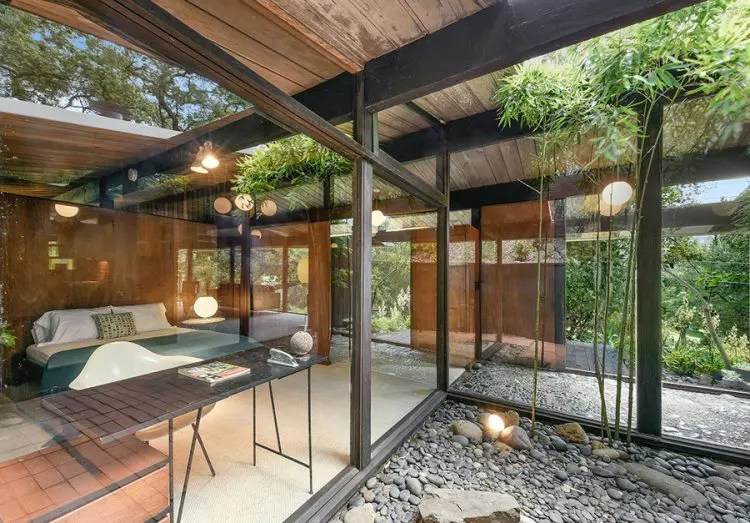 MidCentury Modern Home Clad With Wood Of Various Shades