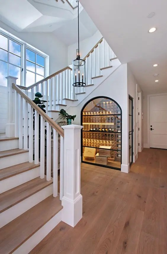 Picture Of Wine Storage Under The Stairs