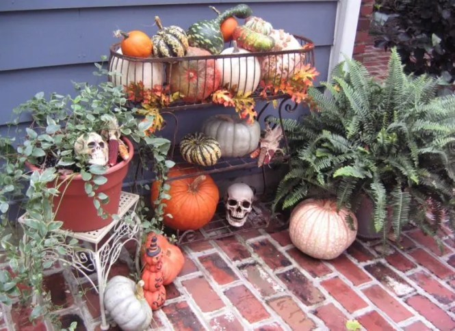 Astounding Outdoor Fall Decorating Ideas Gallery In Entry Traditional Design