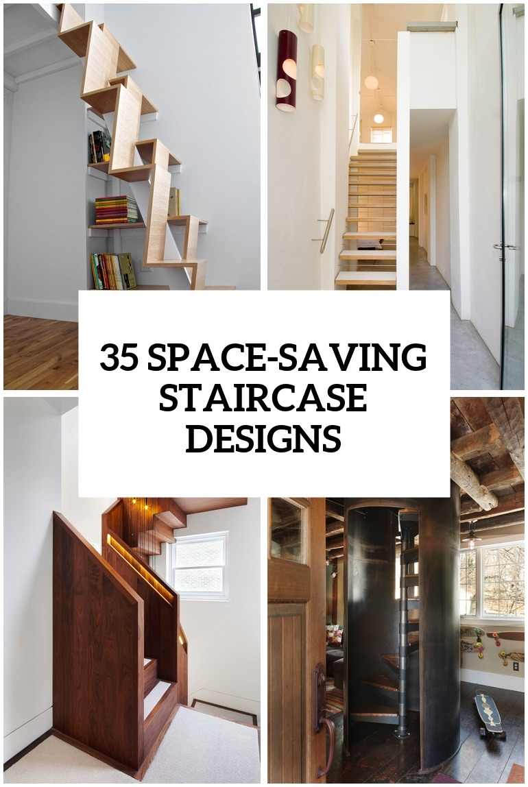 35 Really Cool Space Saving Staircase Designs Digsdigs   Stairs For Homes Designs   Tv Lounge   Fabrication   Creative   Small House   Residential
