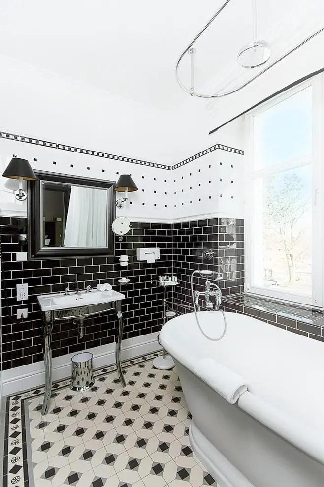 71 cool black and white bathroom design