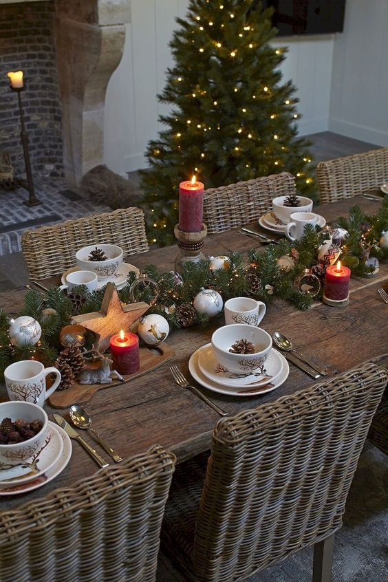 38 inspiring rustic christmas table