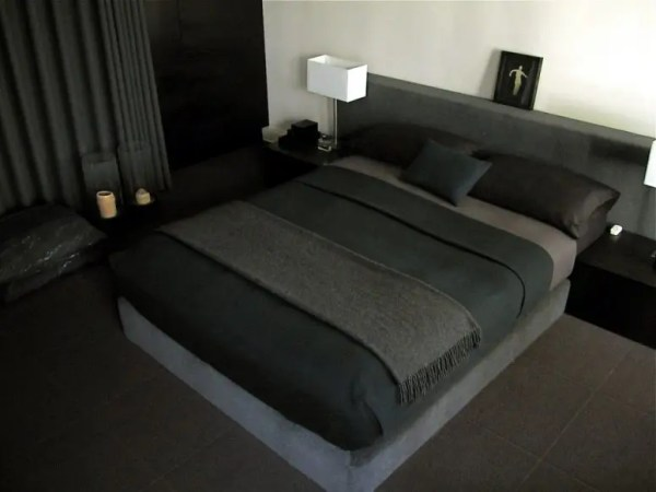 masculine bedrooms black bed 70 Stylish and Sexy Masculine Bedroom Design Ideas - DigsDigs
