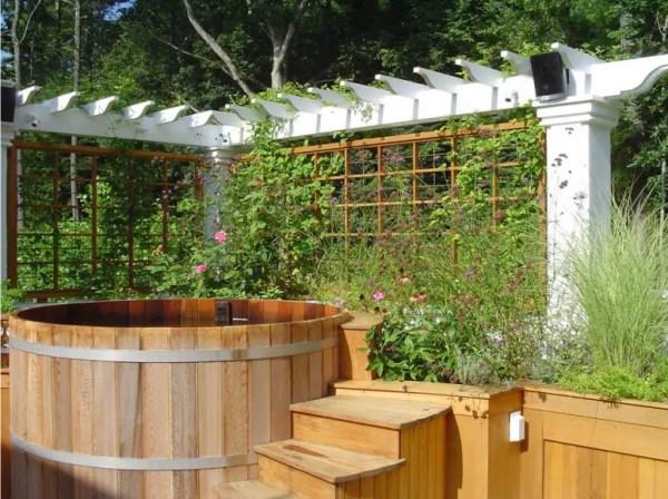 awesome garden hot tub design
