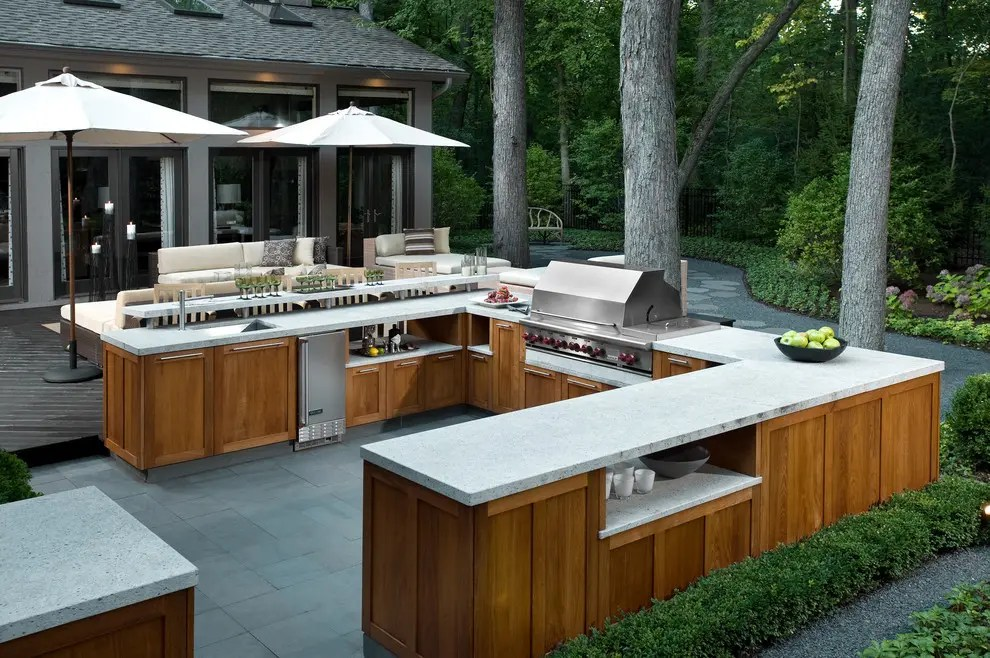 backyard kitchen designs play wood 95 cool outdoor digsdigs if you want a functional thank thing about large prep space
