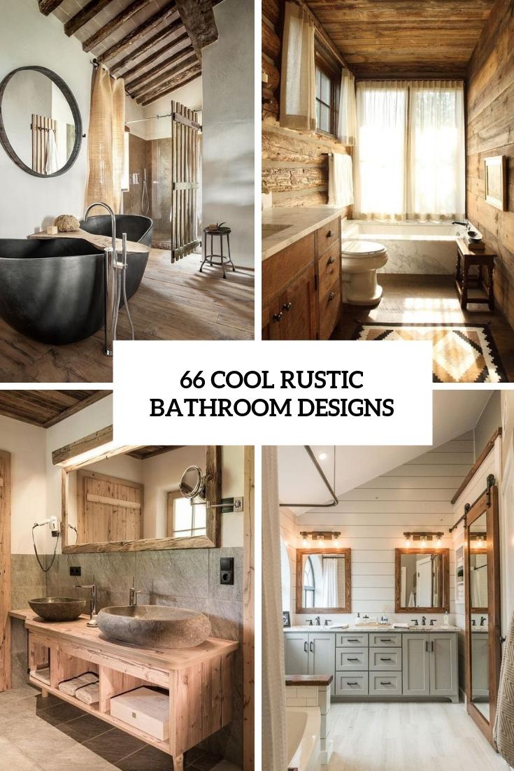 66 cool rustic bathroom