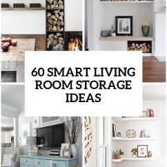Storage For Living Room Rug Sizes Rooms 60 Simple But Smart Ideas Digsdigs