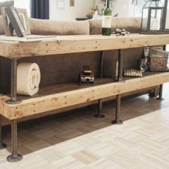 Diy Shelves In Living Room Brown Leather Couch Decorating Ideas 60 Simple But Smart Storage Digsdigs Shelving Made Of Rustic Wood Boards And Pipes Is A Solution To Add Some