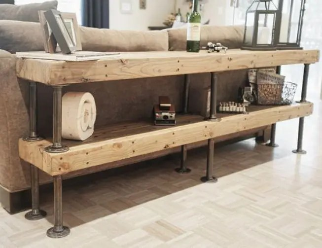 diy living room what color to paint 60 simple but smart storage ideas digsdigs shelving made of rustic wood boards and pipes is a solution add some