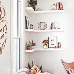 Small Living Room Storage Modern Wall Art For 60 Simple But Smart Ideas Digsdigs Corner Shelves Is A Space Solution Because Corners Are Usually Useless