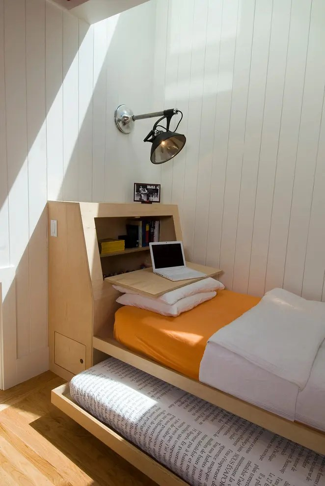 This Is Definitely A Very Smart Bed Design With An Additional Matress And Tidy Storage