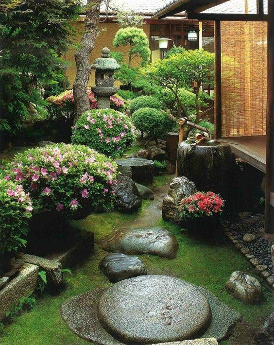 calm japanese-inspired courtyard