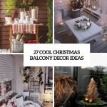27 Cool Christmas Balcony Decor Ideas Digsdigs