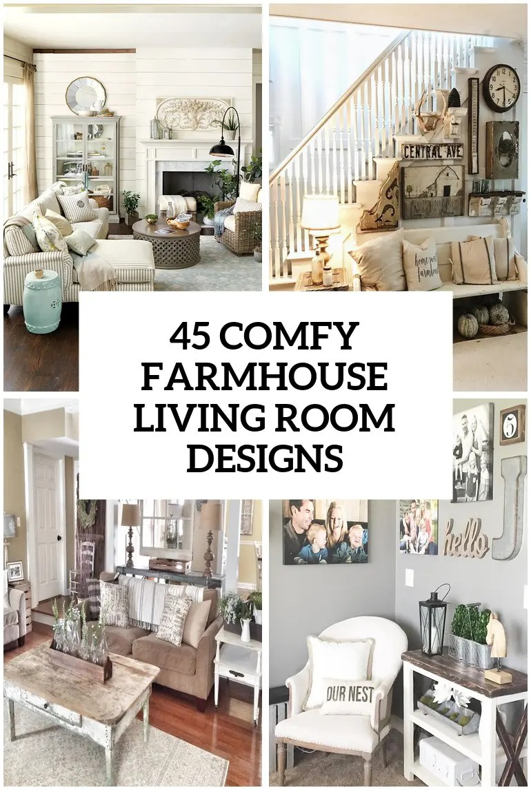 farmhouse living room chairs american furniture isle collection 45 comfy designs to steal digsdigs