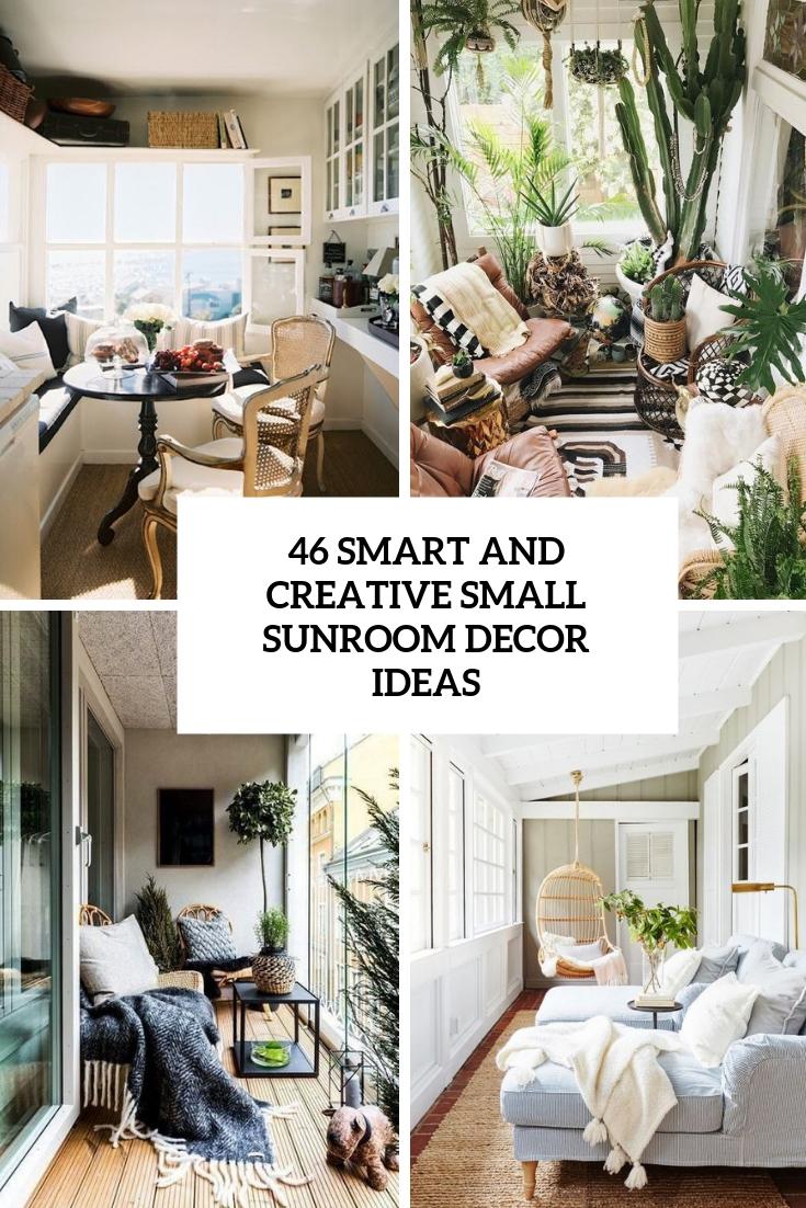 creative small sunroom decor ideas