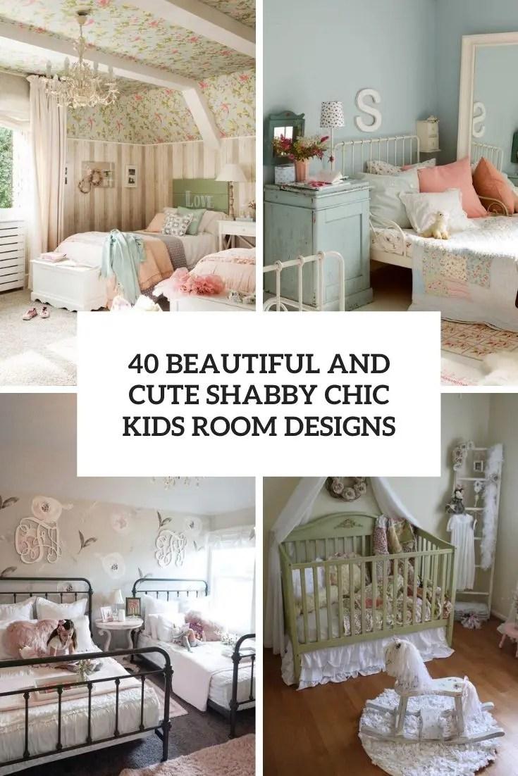 cute shabby chic kids room designs