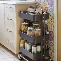 Kitchen Storage Cart Wood Mode Kitchens 6 Clever Ikea Solutions For Your Basic