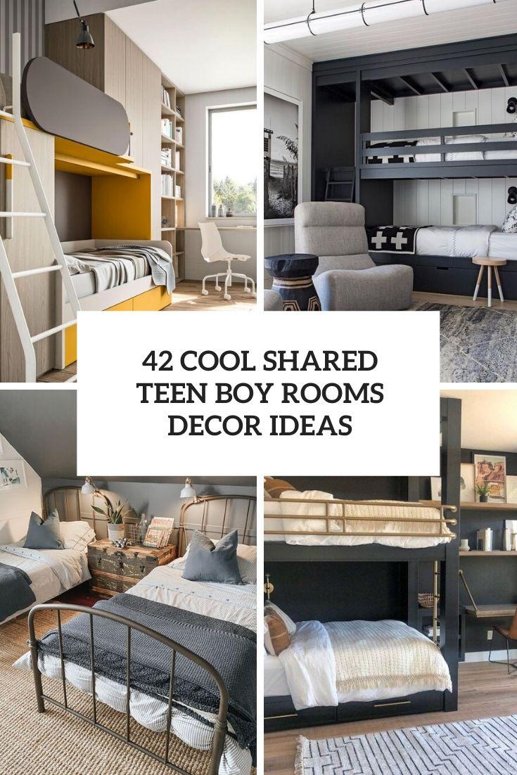42 Cool Shared Teen Boy Rooms Decor Ideas Digsdigs