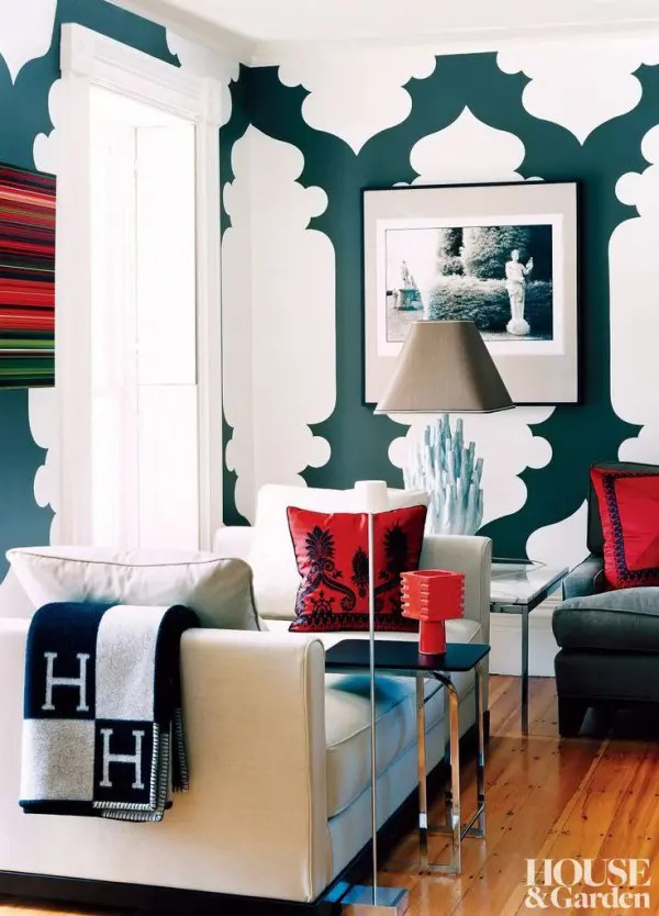 green and red living room 3 piece set under 500 27 daring interior decor ideas digsdigs here the dark bright look great together white space between patterns balances