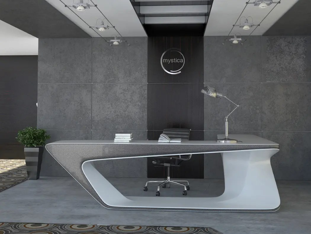 Futuristic Lshaped Desk For Modern Workspaces  DigsDigs