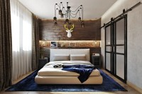 Bold Industrial Meets Rustic Bedroom Decor - DigsDigs