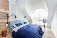 Attic Modern Master Bedroom And Bathroom Decor - DigsDigs