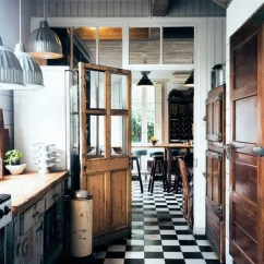 Tile Kitchen Floors Slide Out 30 Practical And Cool Looking Flooring Ideas Digsdigs Black White Tiles